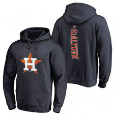 Houston Astros #27 Jose Altuve Backer Pullover Navy Hoodie