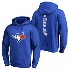 Toronto Blue Jays #20 Josh Donaldson Backer Pullover Royal Hoodie