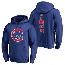 Chicago Cubs #17 Kris Bryant Backer Pullover Royal Hoodie