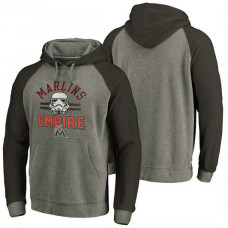 Miami Marlins Heather Gray Star Wars Empire hoodie