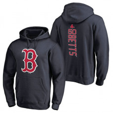 Boston Red Sox #50 Mookie Betts Backer Pullover Navy Hoodie