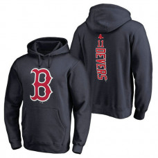 Boston Red Sox #11 Rafael Devers Backer Pullover Navy Hoodie