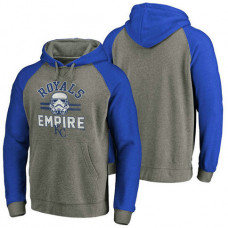Kansas City Royals Heather Gray Star Wars Empire hoodie