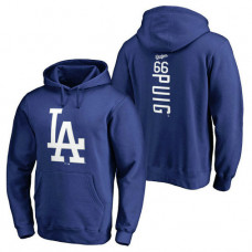 Los Angeles Dodgers #66 Yasiel Puig Backer Pullover Royal Hoodie
