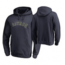 Houston Astros Big & Tall Navy Memorial Wordmark Hoodie