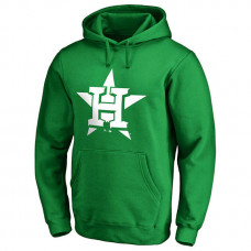 Houston Astros Kelly Green St. Patrick's Day White Logo Pullover Hoodie