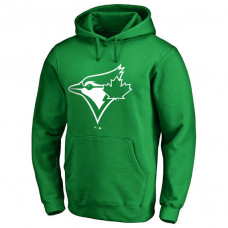 Toronto Blue Jays Kelly Green St. Patrick's Day White Logo Pullover Hoodie