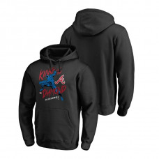 Atlanta Braves Marvel Black Panther Black King of the Diamond Fanatics Branded Hoodie