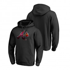 Atlanta Braves Fanatics Branded Big & Tall Black Midnight Mascot Hoodie