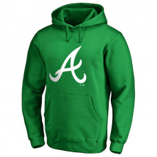 Atlanta Braves Kelly Green St. Patrick's Day White Logo Pullover Hoodie