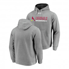 St. Louis Cardinals Under Armour Heathered Gray Commitment Stack Hoodie