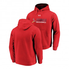 St. Louis Cardinals Under Armour Red Commitment Stack Hoodie
