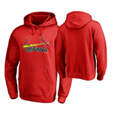 St. Louis Cardinals Big & Tall Red Memorial Wordmark Hoodie
