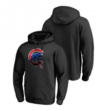 Chicago Cubs Fanatics Branded Big & Tall Black Midnight Mascot Hoodie