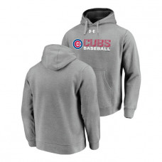 Chicago Cubs Under Armour Heathered Gray Commitment Stack Hoodie