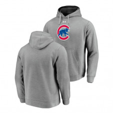Chicago Cubs Commitment Performance Heathered Gray Team Mark Hoodie
