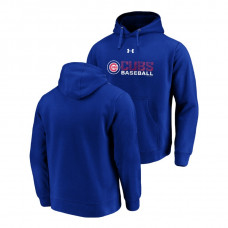 Chicago Cubs Under Armour Royal Commitment Stack Hoodie