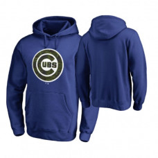 Chicago Cubs Big & Tall Royal Memorial Wordmark Hoodie