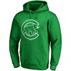 Chicago Cubs Kelly Green St. Patrick's Day White Logo Pullover Hoodie