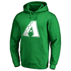Arizona Diamondbacks Kelly Green St. Patrick's Day White Logo Pullover Hoodie