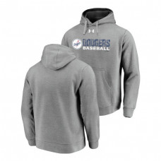 Los Angeles Dodgers Under Armour Heathered Gray Commitment Stack Hoodie