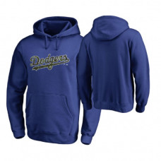 Los Angeles Dodgers Big & Tall Royal Memorial Wordmark Hoodie