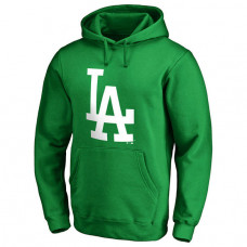Los Angeles Dodgers Kelly Green St. Patrick's Day White Logo Pullover Hoodie
