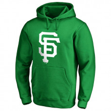 San Francisco Giants Kelly Green St. Patrick's Day White Logo Pullover Hoodie