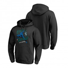 Seattle Mariners Marvel Black Panther Black King of the Diamond Fanatics Branded Hoodie