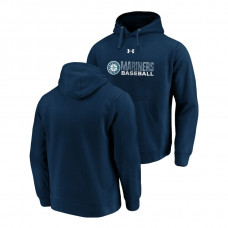 Seattle Mariners Under Armour Navy Commitment Stack Hoodie
