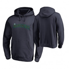 Seattle Mariners Big & Tall Navy Memorial Wordmark Hoodie