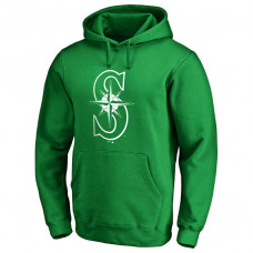 Seattle Mariners Kelly Green St. Patrick's Day White Logo Pullover Hoodie