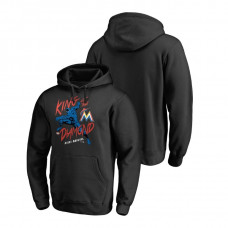 Miami Marlins Marvel Black Panther Black King of the Diamond Fanatics Branded Hoodie