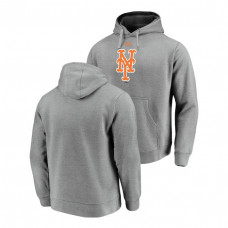 New York Mets Commitment Performance Heathered Gray Team Mark Hoodie
