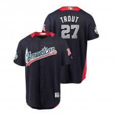 American League #27 Mike Trout 2018 MLB All-Star Navy Home Run Derby Jersey