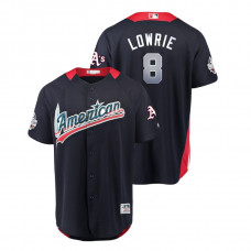 American League #8 Jed Lowrie 2018 MLB All-Star Navy Home Run Derby Jersey