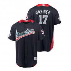 American League #17 Mitch Haniger 2018 MLB All-Star Navy Home Run Derby Jersey