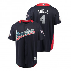 American League #4 Blake Snell 2018 MLB All-Star Navy Home Run Derby Jersey