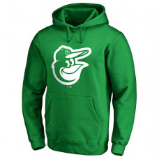 Baltimore Orioles Kelly Green St. Patrick's Day White Logo Pullover Hoodie