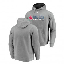 Boston Red Sox Under Armour Heathered Gray Commitment Stack Hoodie