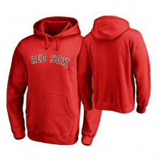 Boston Red Sox Big & Tall Red Memorial Wordmark Hoodie