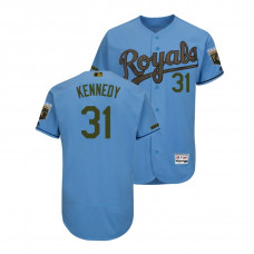 Kansas City Royals Light Blue #31 Ian Kennedy Flex Base Jersey 2018 Memorial Day