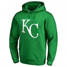 Kansas City Royals Kelly Green St. Patrick's Day White Logo Pullover Hoodie