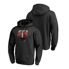 Minnesota Twins Fanatics Branded Big & Tall Black Midnight Mascot Hoodie