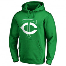 Minnesota Twins Kelly Green St. Patrick's Day White Logo Pullover Hoodie
