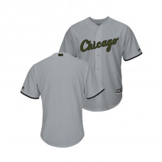 Chicago White Sox Gray Cool Base Jersey 2018 Memorial Day