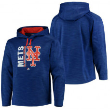 Mets Authentic Collection Team Icon Streak Fleece Royal Pullover Hoodie