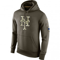 New York Mets Salute To Service Olive Hoodie