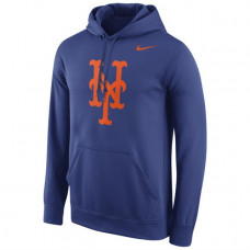 Mets Stitches Fastball Fleece Royal Pullover Hoodie