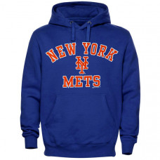 New York Mets Stitches Fleece Pullover Hoodie